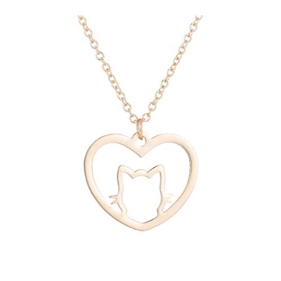 J&W COLLECTION CAT in My Heart ネックレス ゴールド