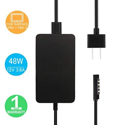 Surface Pro 2 充電器, BOLWEO 12V/3.6A 48W 電源ACアダプター for マイクロソフト Microsoft Surface Pro1 Pro2 , Surface...
