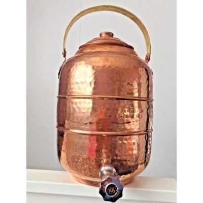 Copper 6.4l Water Pot Dispenser Storage Tank With Tap Kitchen Benefit Yoga
