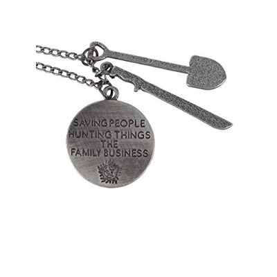 SupernaturalファミリビジネスQuote Necklace with Charms