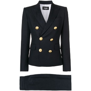 Dsquared2 double-breasted skirt suit - ブルー
