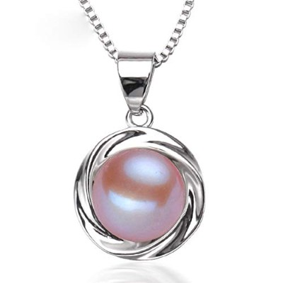 freshwater Purple pearl pendant jewelry for women [並行輸入品]