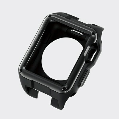 エレコム ELECOM Apple Watch 42mm ZEROSHOCKケース ブラック AW-42ZEROBK[AW42ZEROBK]