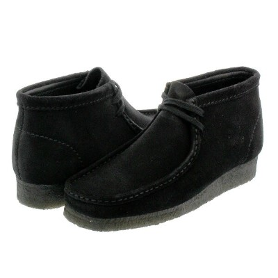 CLARKS WALLABEE BOOT クラークス ワラビー ブーツ BLACK SUEDE 26133281