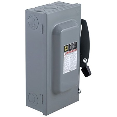 Square D by Schneider Electric DU323 100-Amp 240-Volt 3-Pole Non-Fusible Indoor General Duty Safety...