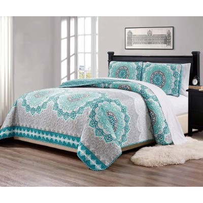 (King/California King) - Fancy Collection 3 Pc King/California King Over Size Quilted Bedspread Set...