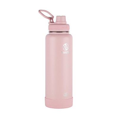 Actives Insulated Stainless Water Bottle with Insulated Spout Lid, 1180ml, Blush