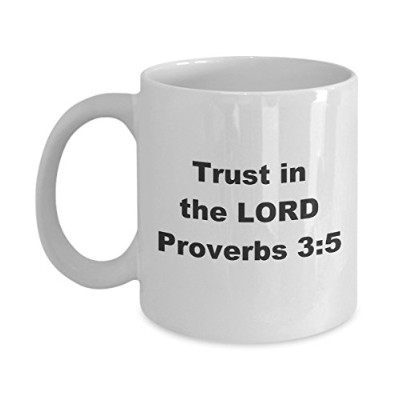 Trust in the Lord Proverbs 3: 5| Scripturalコーヒーカップ| Scriptureマグ| Perfect父の日、母の日、クリスマスのギフト 11oz GB...