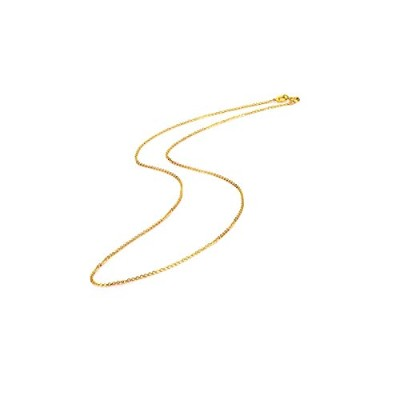 Genuine 18K White Yellow Gold Chain Necklace [並行輸入品]
