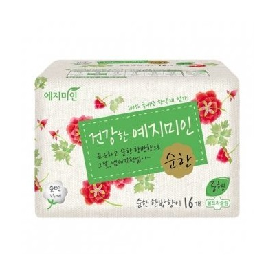 Yejimiin Sanitary Pads Cotton Mild Herb Medium 25cm*16 Pads in a pack by Valuematterz