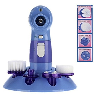 4 in 1 Multifunctional Power Perfect Pore & Electric Facial Cleaning Brush Skin Cleaner Face...
