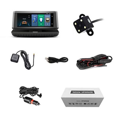 """8"""" Touch Auto Car DVR 4G Android WIFI GPS Video Recorder Dual Lens Dash Cam"""