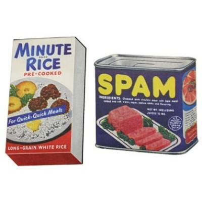 LEADWORKS LEADWORKS/ヴィンテージステッカー 2種セット MINUTE RICE & SPAM アントレスクエア 生活雑貨 生活雑貨その他