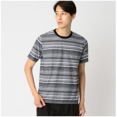 【SALE/30%OFF】COMME CA ISM ジャカード ボーダー Tシャツ コムサイズム カットソー【RBA_S】【RBA_E】