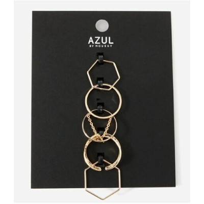 【SALE/51%OFF】AZUL by moussy チェーンモチーフ5本SETリング アズールバイマウジー アクセサリー【RBA_S】【RBA_E】