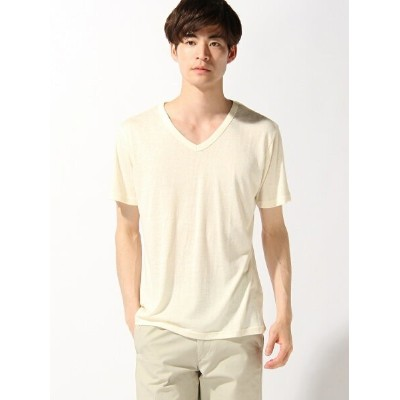 【SALE/75%OFF】TETE HOMME TETE HOMME/(M)シャイニー杢 VT テットオム カットソー Tシャツ イエロー オレンジ