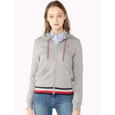 TOMMY HILFIGER (W) トミー ヒルフィガー 【 ジップアップ パーカー 】 トミーヒルフィガー カットソー【送料無料】