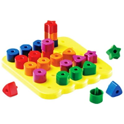 ラーニング リソーシーズ Learning Resources Stacking Shapes Pegboard LER 1572 キッズ