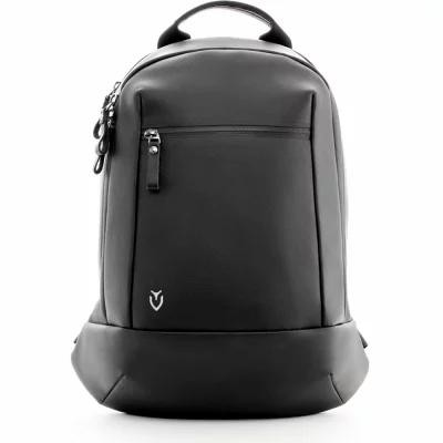 ベッセル VESSEL パソコンバッグ Mini Faux Leather Backpack Pebbled Black