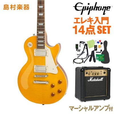Epiphone Limited Edition Les Paul Standard Plustop PRO Antique Natural エレキギター 初心者14点セット マーシャルアンプ付き...