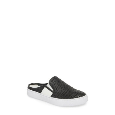 バーニーメブ レディース スニーカー シューズ bernie mev. Perforated Slide Sneaker (Women) Black Leather