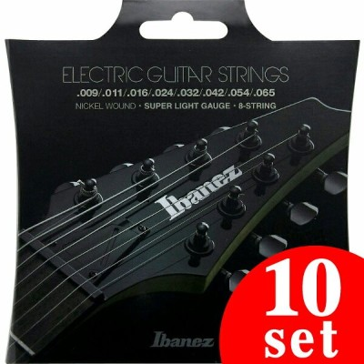 Ibanez Accessory Series IEGS8 8st/Super Light (Nickel Wound / 09-65) 《エレキギター弦》【10セット】【送料無料】