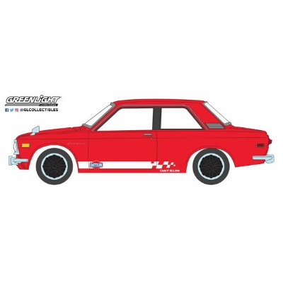1/64 Tokyo Torque Series 5 - 1970 Datsun 510 Custom - Red with White Stripes[グリーンライト]《03月仮予約》