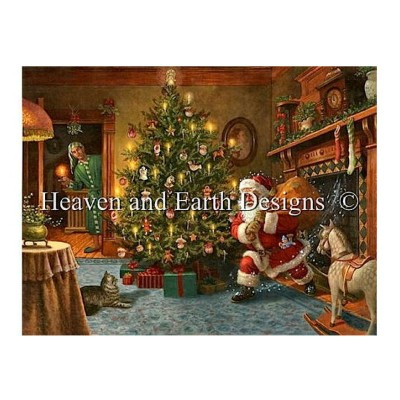 Heaven And Earth Designs クロスステッチ刺繍図案 輸入 HAED 上級者 Ruth Sanderson クリスマスのサンタクロース He Looked Like a...