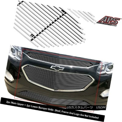 USグリル For 2016-2017 Chevy Equinox Upper and Lower Billet Grille Combo 2016-2017 Chevy Equinoxの上および下の...