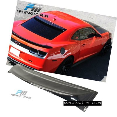 エアロパーツ Fits 10-16 Chevy Camaro 2Dr Rear Window Visor Roof Spoiler Sun Guard Spoiler フィット10...