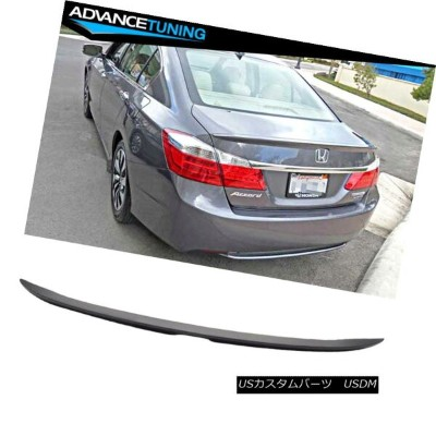 エアロパーツ 13-16 Honda Accord 4Dr Sedan Factory OE Style Unpainted ABS Trunk Spoiler Wing 13-16ホンダアコード4D...