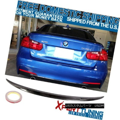 エアロパーツ 12-18 BMW 3-Series F30 4D Sedan Performance Rear Trunk Spoiler Carbon Fiber CF 12-18 BMW...