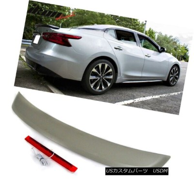 エアロパーツ Fit 16-18 Maxima 8th A36 Sedan SR OE Factory ABS Trunk Spoiler & LED Brake Lamp フィット16...