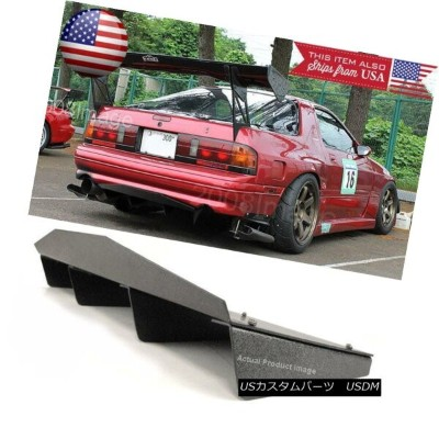 "エアロパーツ 30"" x 12.5"" ABS Textured Rear Bumper Center Diffuser Fin Black For VW Porsche 30 ""x 12.5""..."
