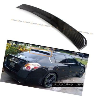 エアロパーツ FOR 2007-2012 NISSAN ALTIMA 4DR SEDAN CARBON FIBER REAR ROOF SPOILER VISOR WING 日産アルティマ4DRセダン...
