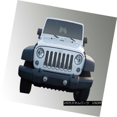 USグリル SES Trims ABS414 - 7-Pc Chrome Mesh Main Grille for 07-18 Jeep Wrangler SESは、07-18ジープラングラーのABS...
