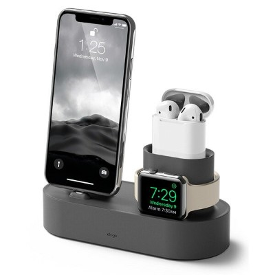 elago エラゴ Charging Hub for iPhone / AirPods / Apple Watch ダークグレイ AirPods iPhone AppleWatchを整理して充電できる...