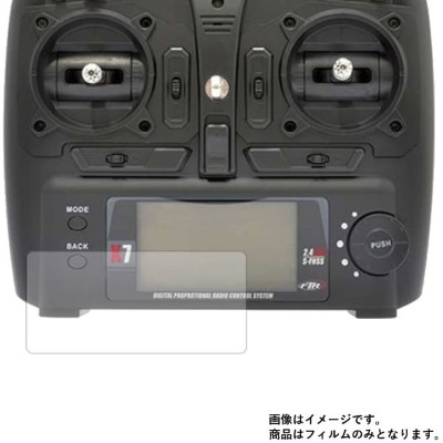 HITEC 6-AXIS GYRO QUADCOPTER X251 RRFキット 送信機 用 【反射防止】マットバブルレス 液晶保護フィルム ★