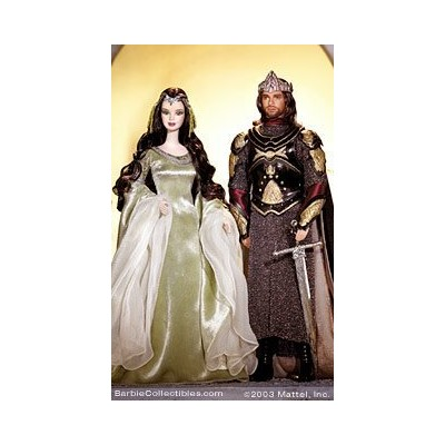 Barbie バービー and Ken As Arwen and Aragorn in the Lord of the Rings ロードオブザリング Barbie バ