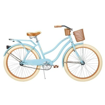 自転車 26インチ Huffy Nel Lusso Women's Cruiser Bike, Gloss Blue