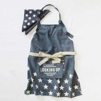 AND PACKABLE アンドパッカブル KIDS APRON キッズエプロン スター 89578