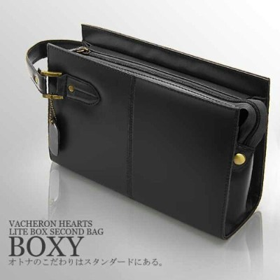 ≪VACERON HEARTS(ヴァセロンハーツ)≫ 牛革×ナイロン ライトBOXセカンドバッグ AN-2157