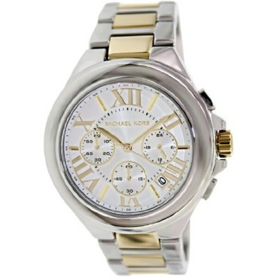 マイケルコース Michael Kors レディース 腕時計 時計 Michael Kors Women's MK5653 Camille Chronograph Silver/Gold Watch