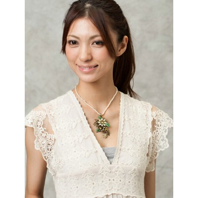 Michel's Vintage Beads Neckrace Romancing the Stoneヴィンテージビーズネックレス・ロマンシングストーン