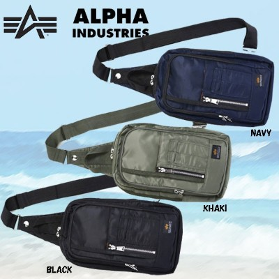 ALPHA INDUSTRIES ボディバッグ ナイロンツイール MA-1 ALSW-4931