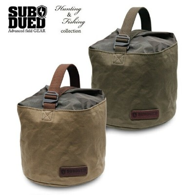 【SUBDUED】MULTI STORAGE BUCKET 18cm カラー:deel forest / walnut 【サブデュード】【スケートボード】【小物】