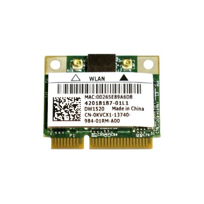 Dell Wireless WLAN 1520 DW1520 内蔵ワイヤレスLAN Half-Miniカード (300Mbps 802.11a/b/g/n対応) BCM943224HMS...
