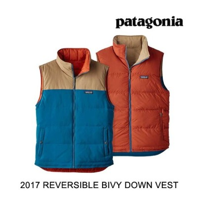 2017 PATAGONIA パタゴニア ベスト REVERSIBLE BIVY DOWN VEST BSRB BIG SUR BLUE