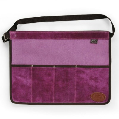 [OUTLET] | Bradley's | Suede Leather Tool Roll Apron 4 Pocket4ポケット スウェードレザー ツールロール エプロン PINK |...