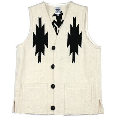 "ORTEGA'S [SP CHIMAYO VEST ""THUNDER BIRD"" WHITE size.38.40.42]"